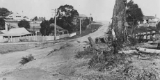 Looking south from top end of Bowra Street, Nambucca Heads Date of photograph: Approx 1920