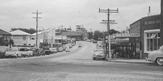 Looking north up Bowra Street from Nambucca Heads Post Office Date of photograph: Approx 1953