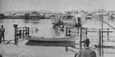 Macksville punt approaches northern side of Nambucca River Date of photograph: date unknown