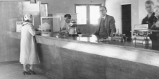 Latest Nambucca Post Office opens for first day of business Date of photograph: Approx 1958