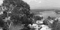 View to south west from corner of Bowra and Ridge St, Nambucca Date of photograph: approx 1959
