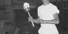 Olympic torch in Nambucca en route to 1956 Melbourne Olympics Date of photograph: 1956