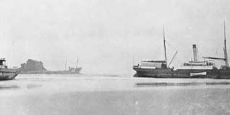 "The ""S.S. Rosedale"" at anchor in Nambucca Harbour. Date of photograph: sometime in the 1890's"