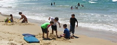 Sandcastles on Nambucca Beach  © 2005 Photo by Nambucca Graphics