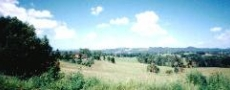 Nice hillside view down into Bowraville  © 2000 Photo by Nambucca Graphics