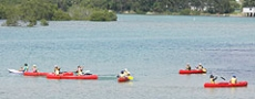 Canoe skills class on Nambucca River  © 2006 Photo by Nambucca Graphics