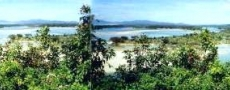 A panoramic picture view to the south from Parkes Street, Nambucca Heads © 1999 Photo by Nambucca Graphics