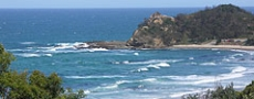 Shelley Beach at Nambucca Heads  © 1999 Photo by Nambucca Graphics